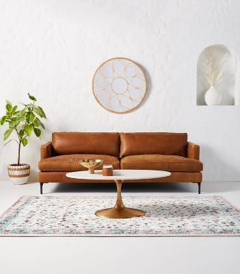 Bowen Leather Sofa Anthropologie