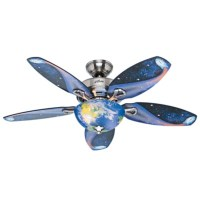"48"" Brushed Nickel/Chrome Ceiling Fan 