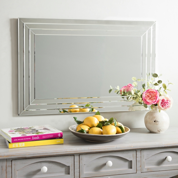 Decorative Mirror Kirklands Infinity Frameless Wall Mirror 24x36 In Kirklands
