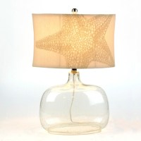 Seeded Glass Starfish Table Lamp | Kirklands