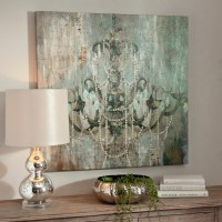 Jeweled Chandelier Canvas Art Print | Kirklands