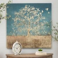 Golden Bird Tree Canvas Art Print | Kirklands