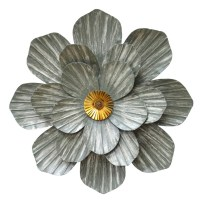 Galvanized Metal Flower Wall Plaque | Kirklands
