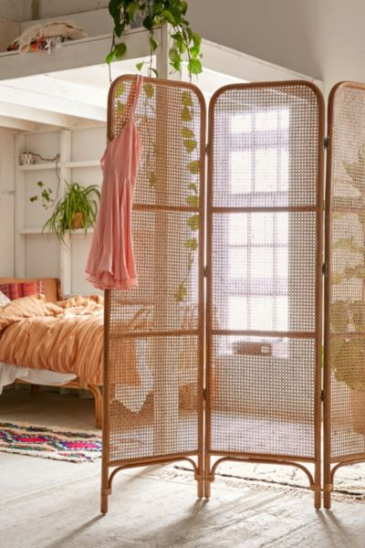 Paravent Rattan Rattan Screen Room Divider