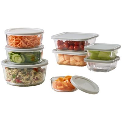 Fingerhut Alcove 16 Pc Glass Kitchen Food Storage Container Set