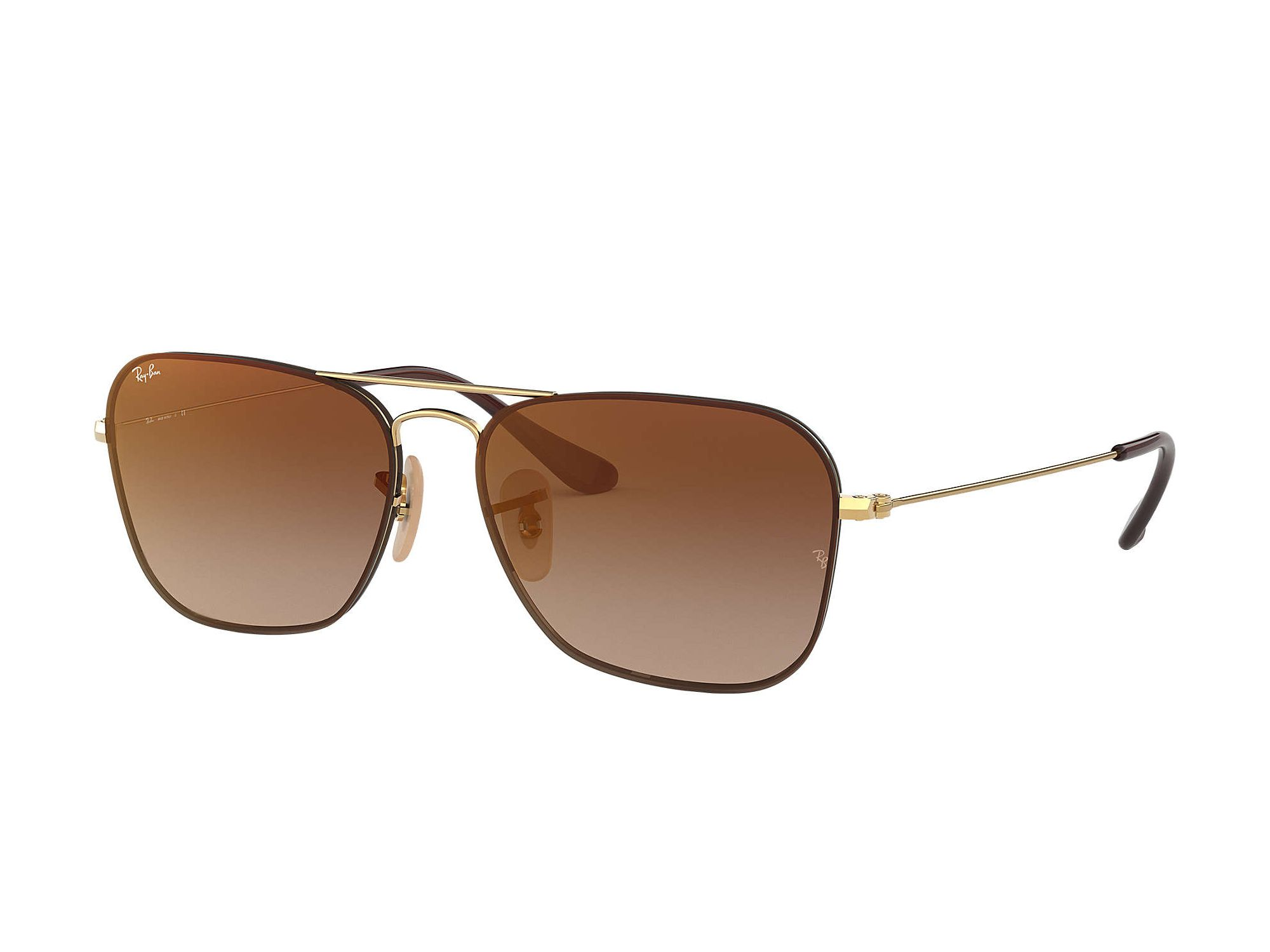 Mirror Frame Glasses Ray Ban Rb3603 Sunglasses Gold Metal Frames And Brown Gradient Mirror Lenses