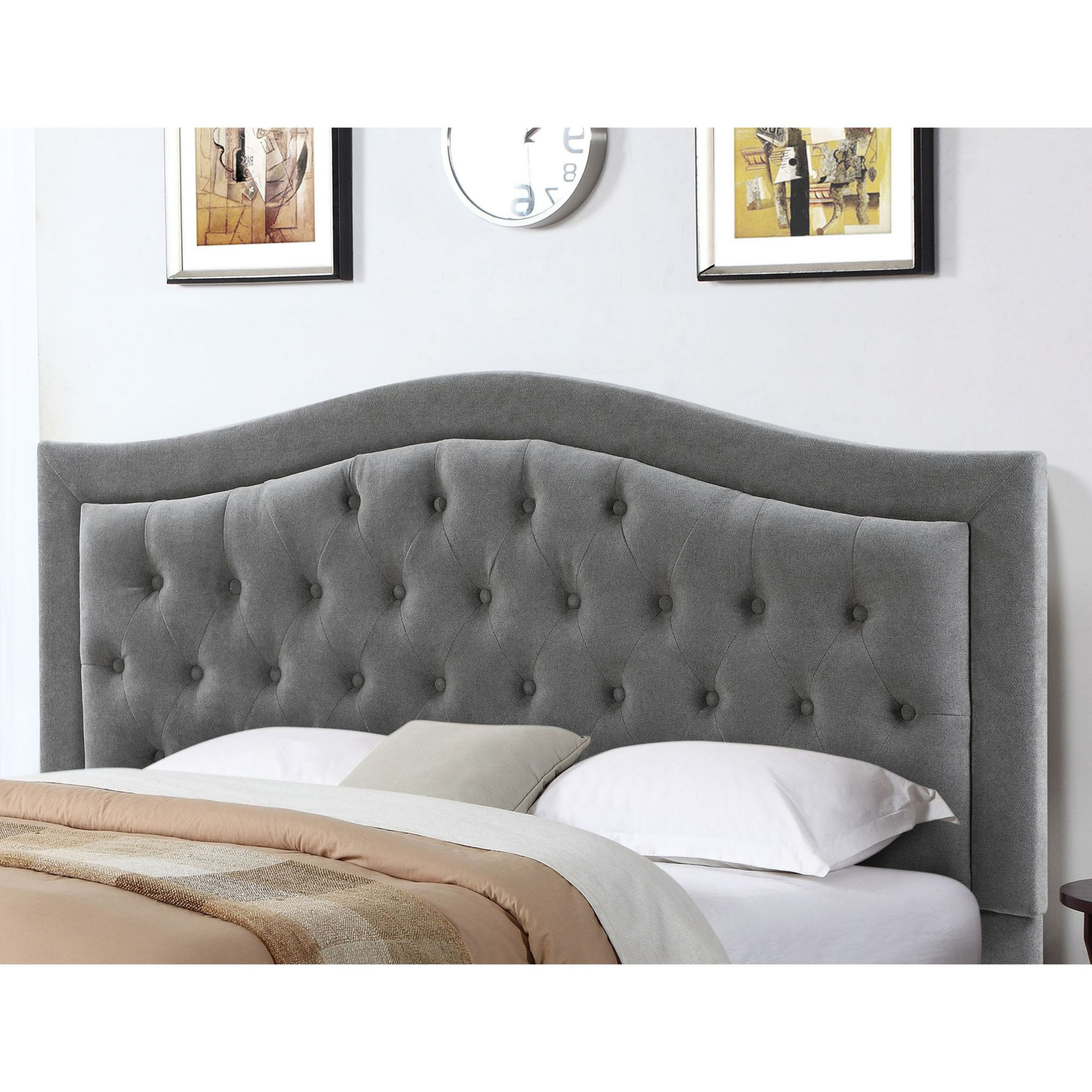 Shop Now For The Abbyson Living Jamie Tufted Full Queen Size Headboard Gray Accuweather Shop