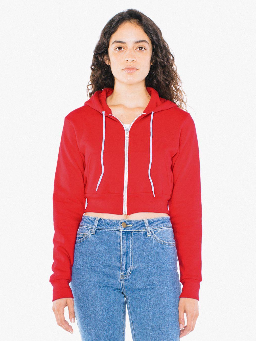 Flex Fleece Cropped Zip Hoodie American Apparel