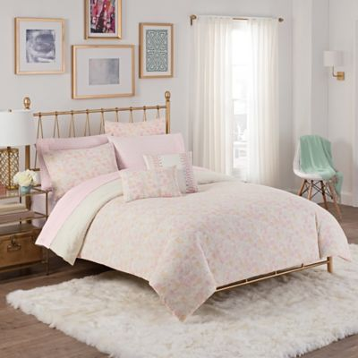 Cupcakes And Cashmere Painted Floral Comforter Set In Pink