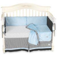 Kathy Ireland Home Opposites Blue 4-Piece Crib Bedding ...
