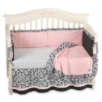 Kathy Ireland Home Opposites Pink 4-Piece Crib Bedding Set ...