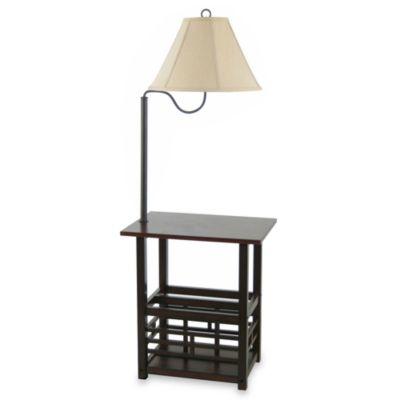 Floor Lamp with Magazine Rack