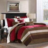 Loreto 6-7 Piece Comforter Set in Red - Bed Bath & Beyond