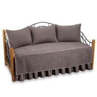 Vallejo 100% Cotton Quilted Daybed Bedding Set in Grey ...