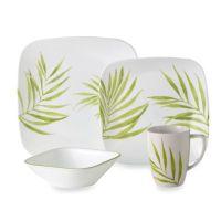 Corelle Vive Bamboo Leaf 16-Piece Dinnerware Set - Bed ...