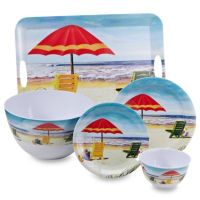 Beach Scene Melamine Dinnerware - Bed Bath & Beyond