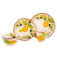 Lemon Chatta 16-Piece Dinnerware Set - Bed Bath & Beyond