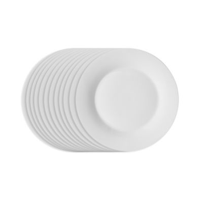 Studio White 7 1 2 Inch Salad Plates Set Of 12 Bed