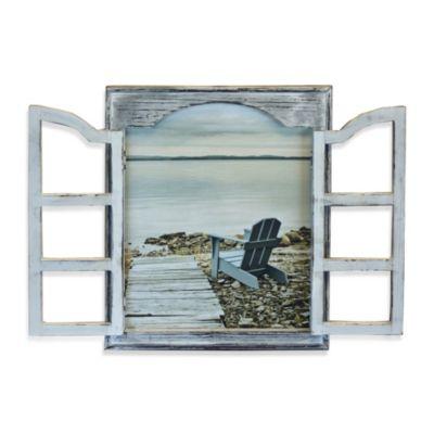 Beach Window Chair Wall Art