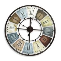 Metal Multicolor Wall Clock - Bed Bath & Beyond