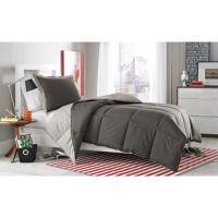 Buy Micro Splendor Reversible Comforter Set in Charcoal ...