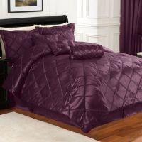 Braxton 7-Piece Comforter Set in Purple - Bed Bath & Beyond