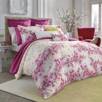 bluebellgray Cherry Blossom Pink Comforter Set - Bed Bath ...