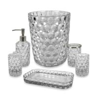 Crystal Ball Glass Bathroom Accessories in Clear - Bed ...