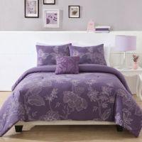 Etched Floral Comforter Set - Bed Bath & Beyond