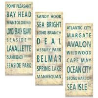 Jersey Shore Places Canvas Wall Art - Bed Bath & Beyond