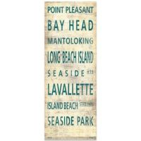 Central Jersey Shore Places Canvas Wall Art - Bed Bath ...