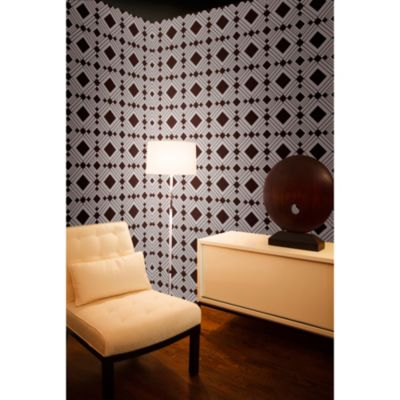 Tempaper® Removable Wallpaper in Diamond Chocolate - Bed Bath & Beyond