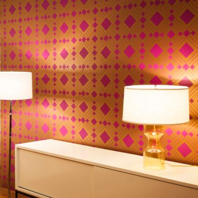 Tempaper® Double Roll Removable Wallpaper in Diamond Violet - Bed Bath & Beyond