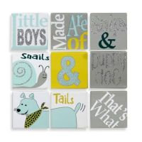 9-Piece Puppy Dog & Tails Canvas Wall Art - buybuy BABY