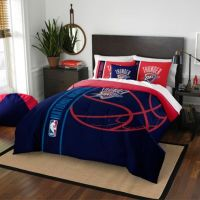 NBA Oklahoma City Thunder Embroidered Comforter Set - Bed ...