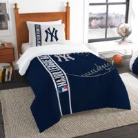 MLB New York Yankees Embroidered Comforter Set - Bed Bath ...