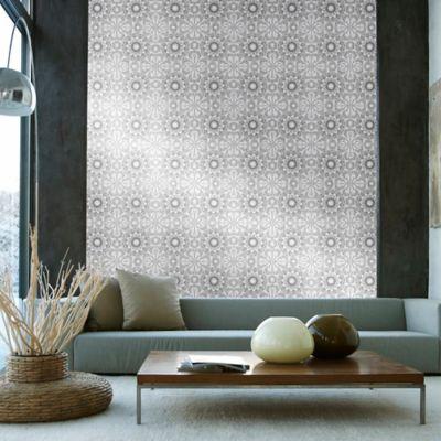 Tempaper® Removable Wallpaper in Medallion Platinum - Bed Bath & Beyond