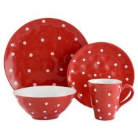 Maxwell & Williams Sprinkle Dinnerware Collection in Red