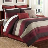 Buy Hudson Twin Comforter Set in Red from Bed Bath & Beyond