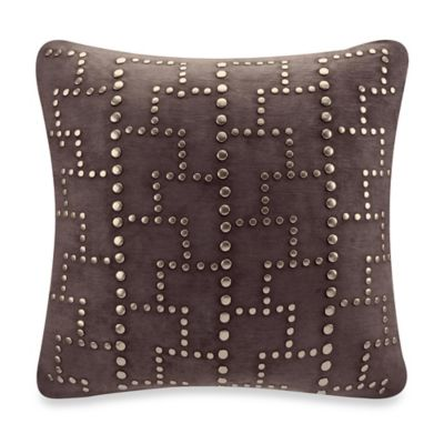 Faux Suede With Studded Square Throw Pillow Bed Bath