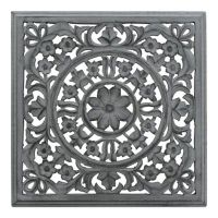 Moroccan Inspired Square Wood Carved Wall Panel - Bed Bath ...