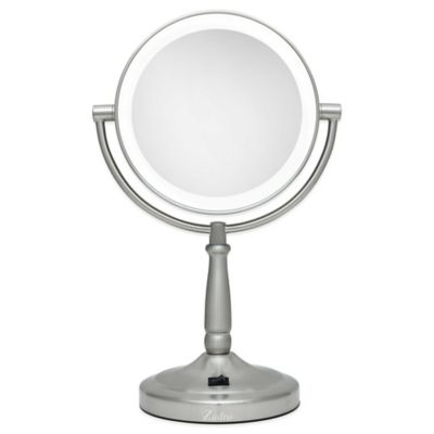 Zadro 10x 1x cordless led lighted vanity mirror bed