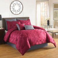 Aryn Comforter Set in Red - Bed Bath & Beyond
