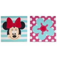 Disney Minnie Mouse 2-Piece Wall Art Set - buybuy BABY