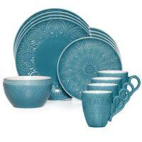 Pfaltzgraff Dolce 16-Piece Dinnerware Set in Turquoise ...