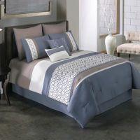 Covington 6-8-Piece Comforter Set in Blue - Bed Bath & Beyond