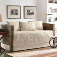 Buy Vallejo 100% Cotton Quilted Daybed Set in Taupe from ...