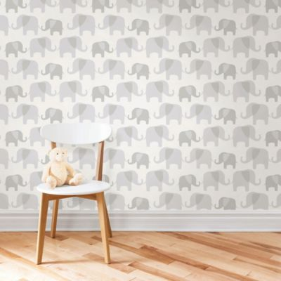 WallPops!® NuWallpaper™ Elephant Parade Peel & Stick ...