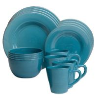 Buy Sonoma 16-Piece Dinnerware Set in Turquoise from Bed ...