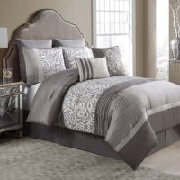 Arcadia 8-Piece Comforter Set in Taupe/Ivory - www ...